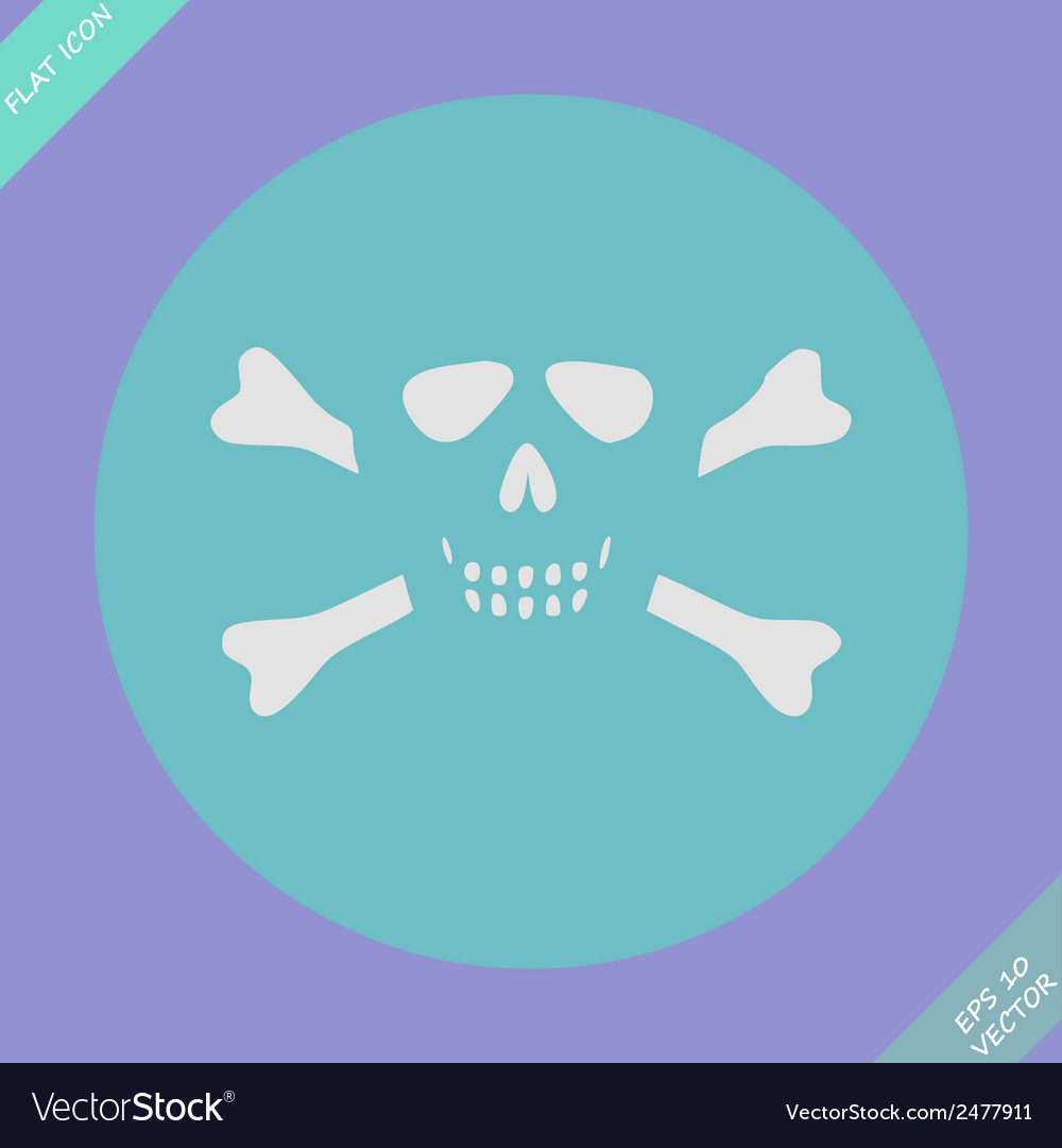 Skull and bones - a mark of the danger warning vector | Price: 1 Credit (USD $1)