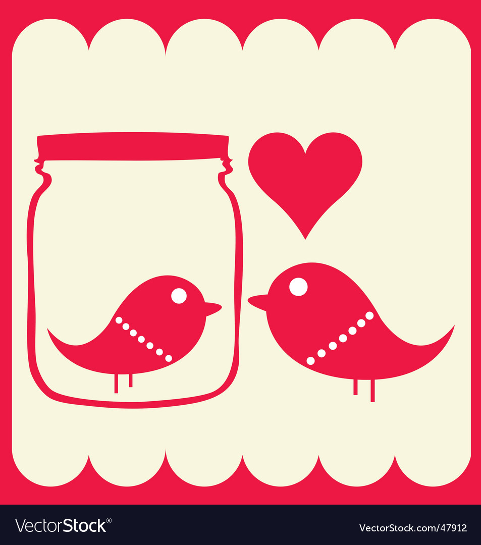 Bird couple vector | Price: 1 Credit (USD $1)