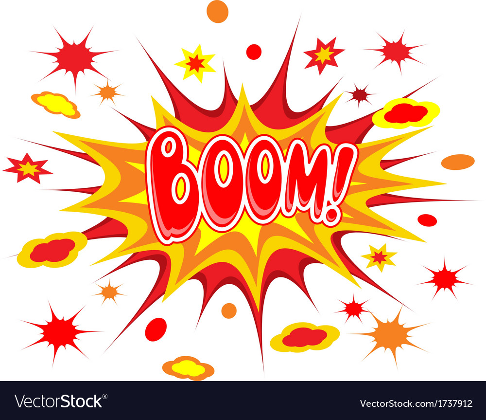 Boom comics icon vector | Price: 1 Credit (USD $1)