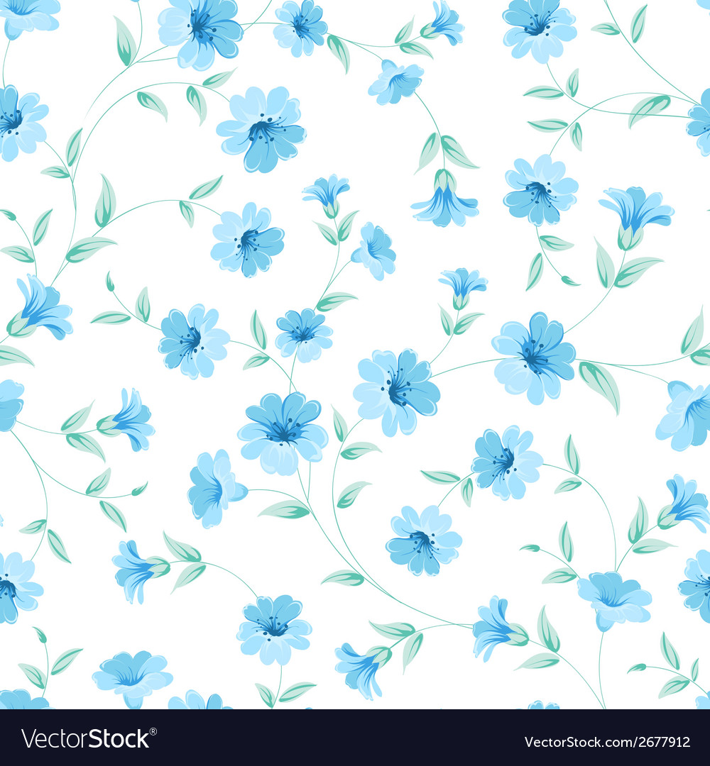 Chicory seamless pattern vector | Price: 1 Credit (USD $1)