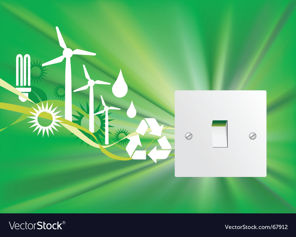 Eco switch vector | Price: 1 Credit (USD $1)