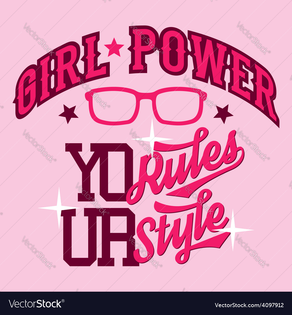 Girl power t-shirt design vector | Price: 1 Credit (USD $1)