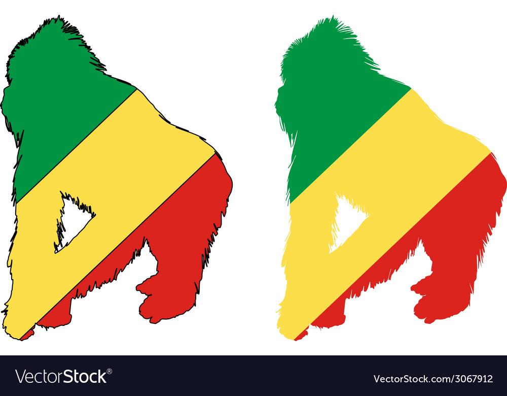 Gorilla congo vector | Price: 1 Credit (USD $1)