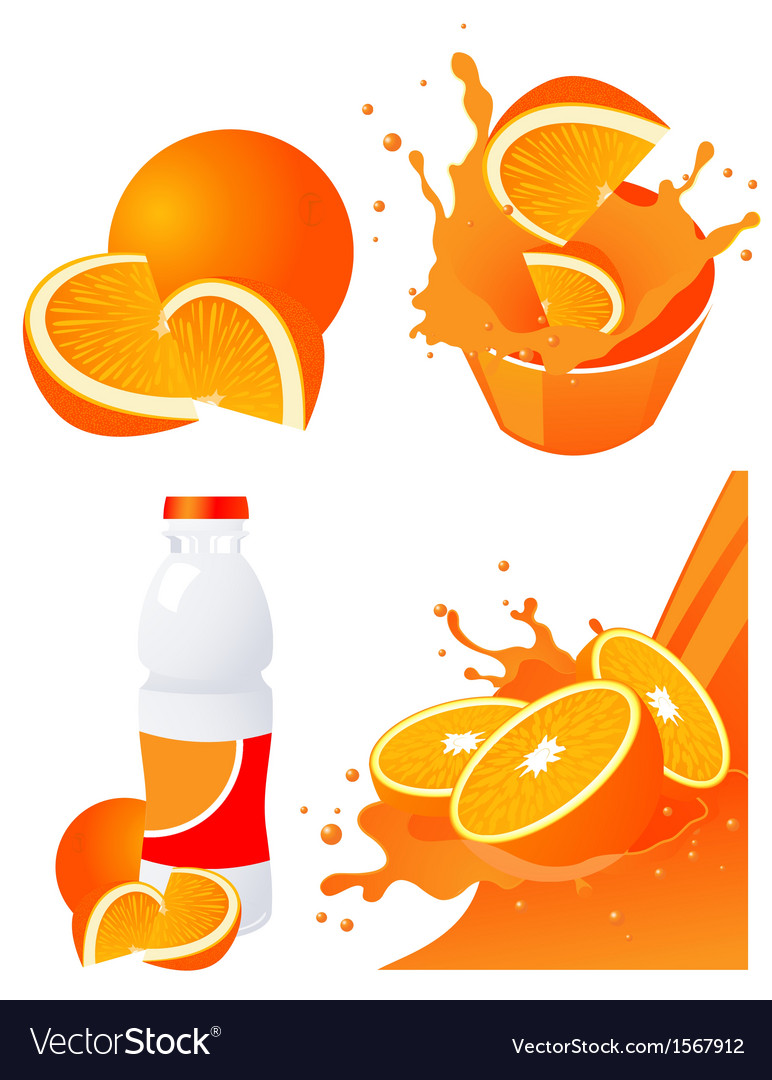 Orange products vector | Price: 1 Credit (USD $1)
