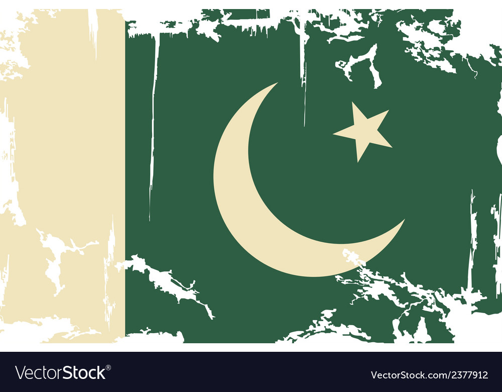 Pakistani grunge flag vector | Price: 1 Credit (USD $1)