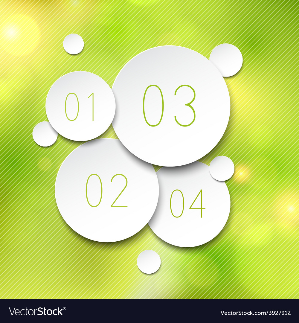 Paper round bubbles over green vector | Price: 1 Credit (USD $1)