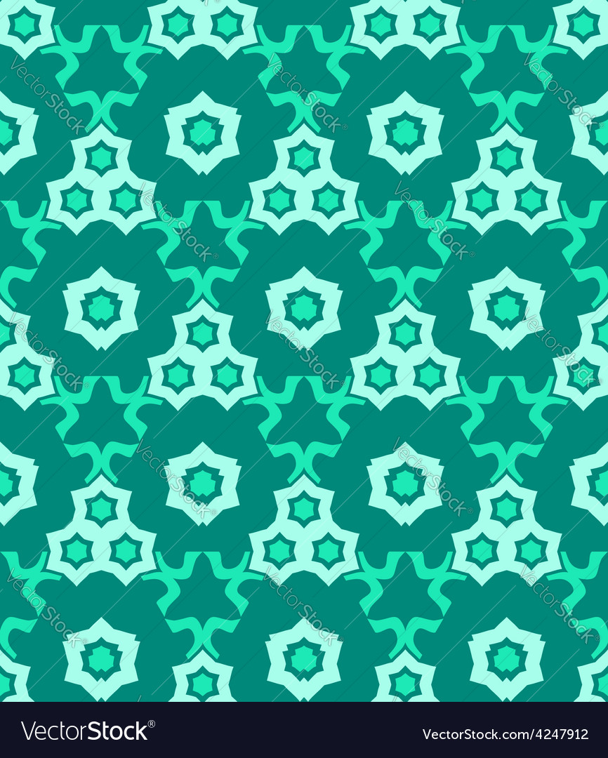 Psychedelic abstract colorful green cyan seamless vector | Price: 1 Credit (USD $1)