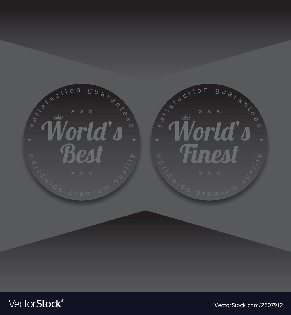 Quality label vector | Price: 1 Credit (USD $1)