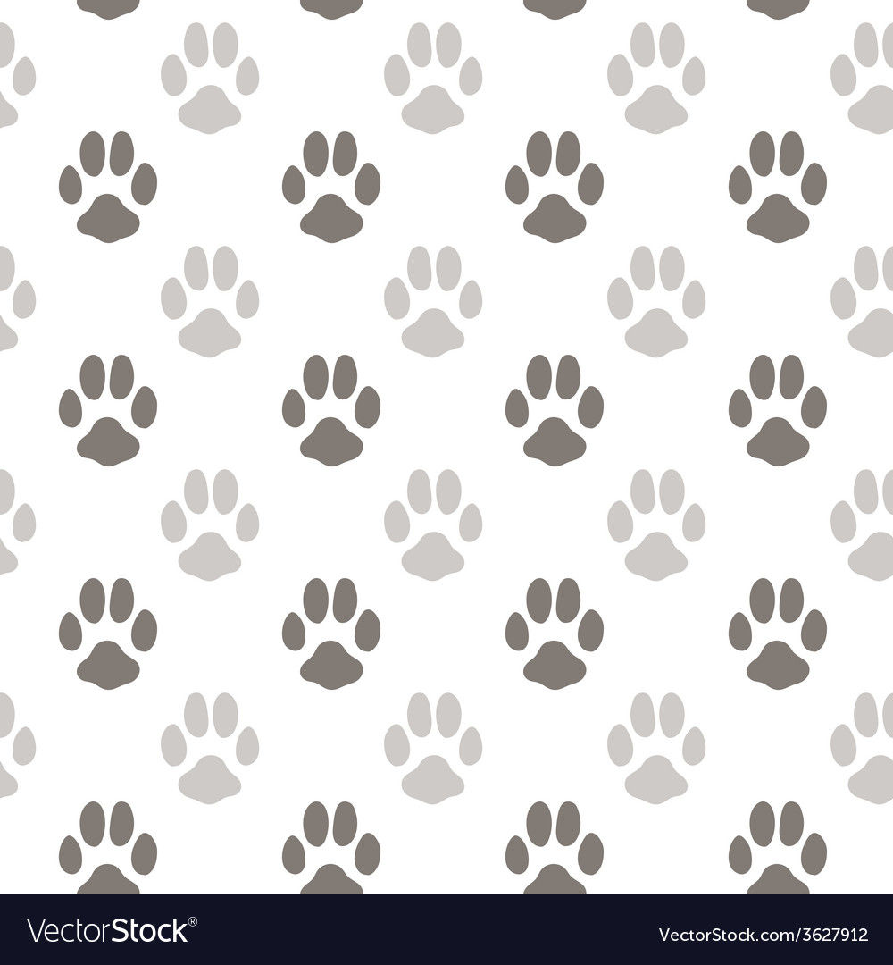 Seamless pattern with animal footprint texture vector | Price: 1 Credit (USD $1)