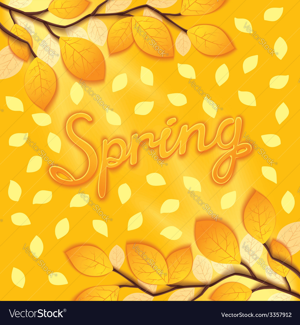 Sunny spring design vector | Price: 1 Credit (USD $1)