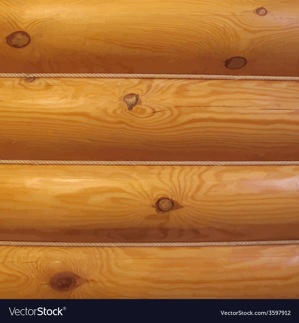 Wood log wall vector | Price: 1 Credit (USD $1)