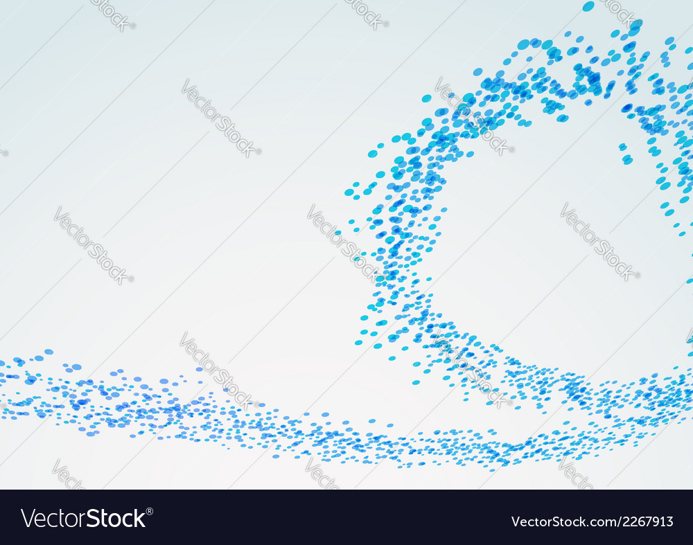 Blue spiral particle line flow vector | Price: 1 Credit (USD $1)