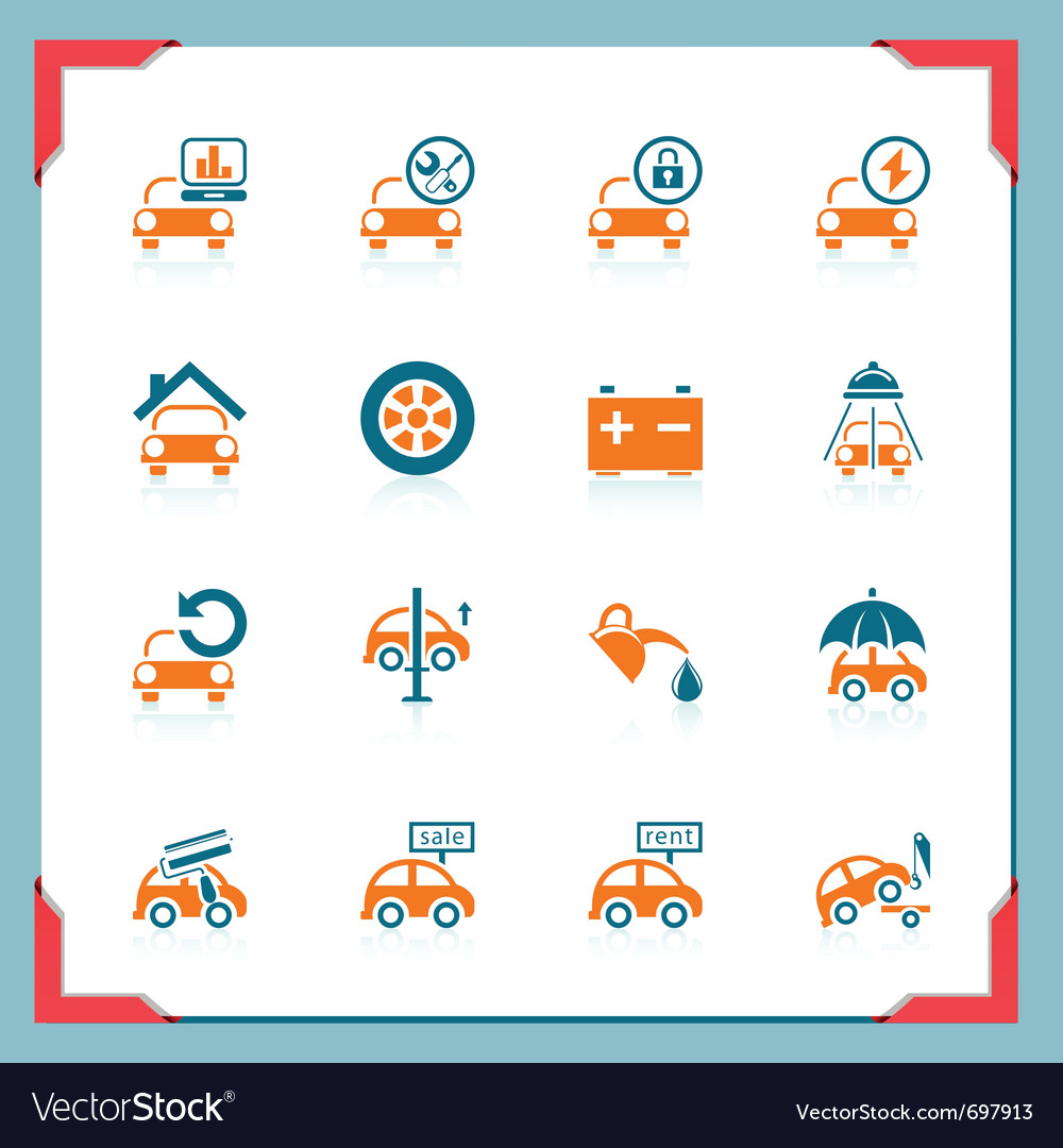 Car service icons - in a frame series vector | Price: 1 Credit (USD $1)