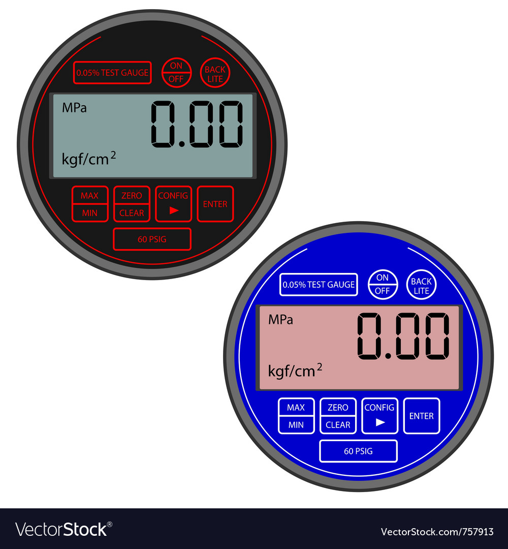 Digital gas manometer vector | Price: 1 Credit (USD $1)