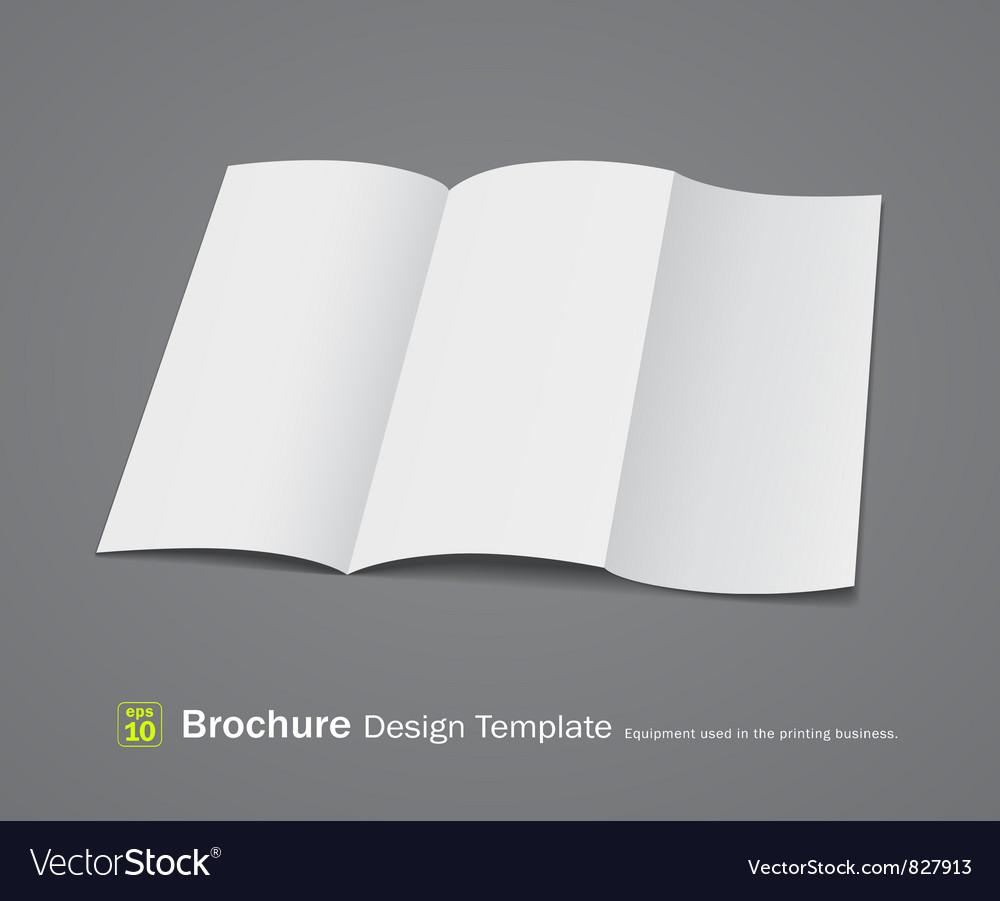 Empty brochure design vector | Price: 1 Credit (USD $1)