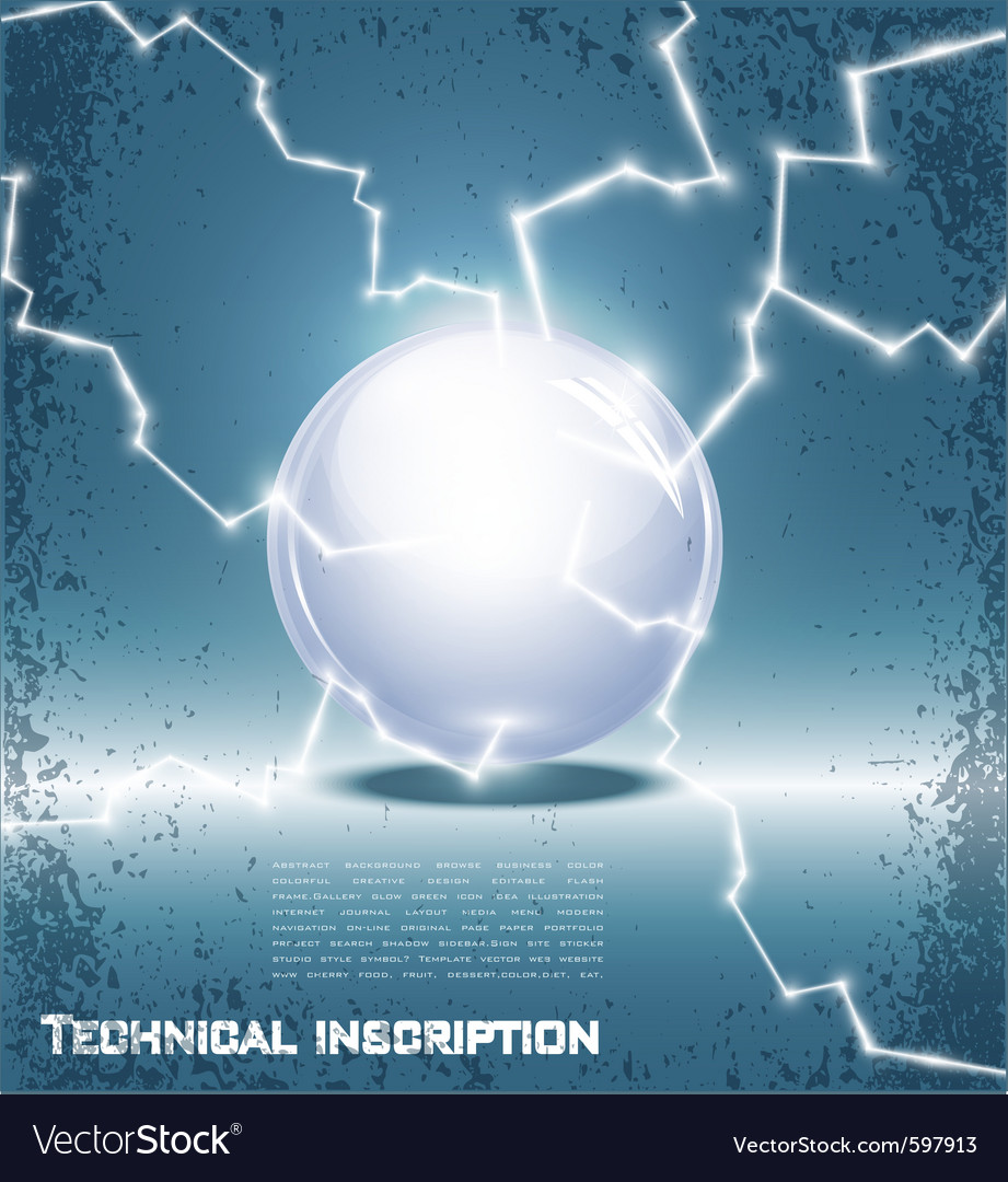 Glass ball and lightning vector | Price: 1 Credit (USD $1)