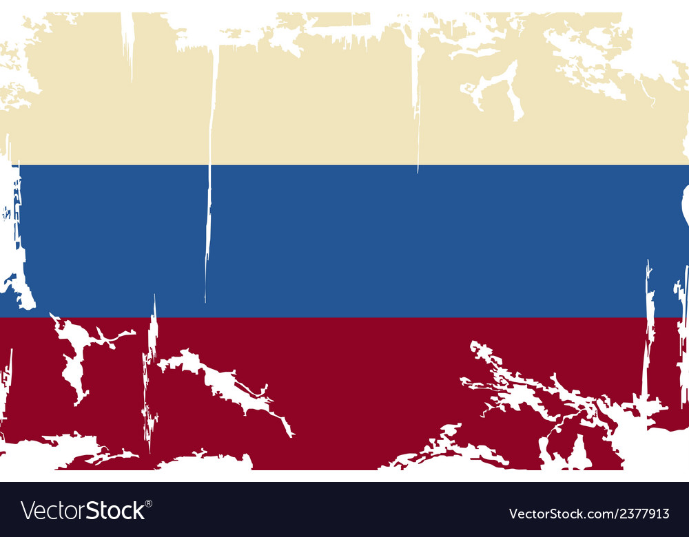 Russian grunge flag vector | Price: 1 Credit (USD $1)