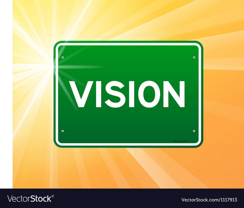 Vision green sign vector | Price: 1 Credit (USD $1)