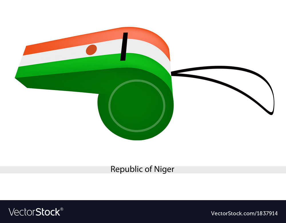 A whistle of the republic of niger vector | Price: 1 Credit (USD $1)
