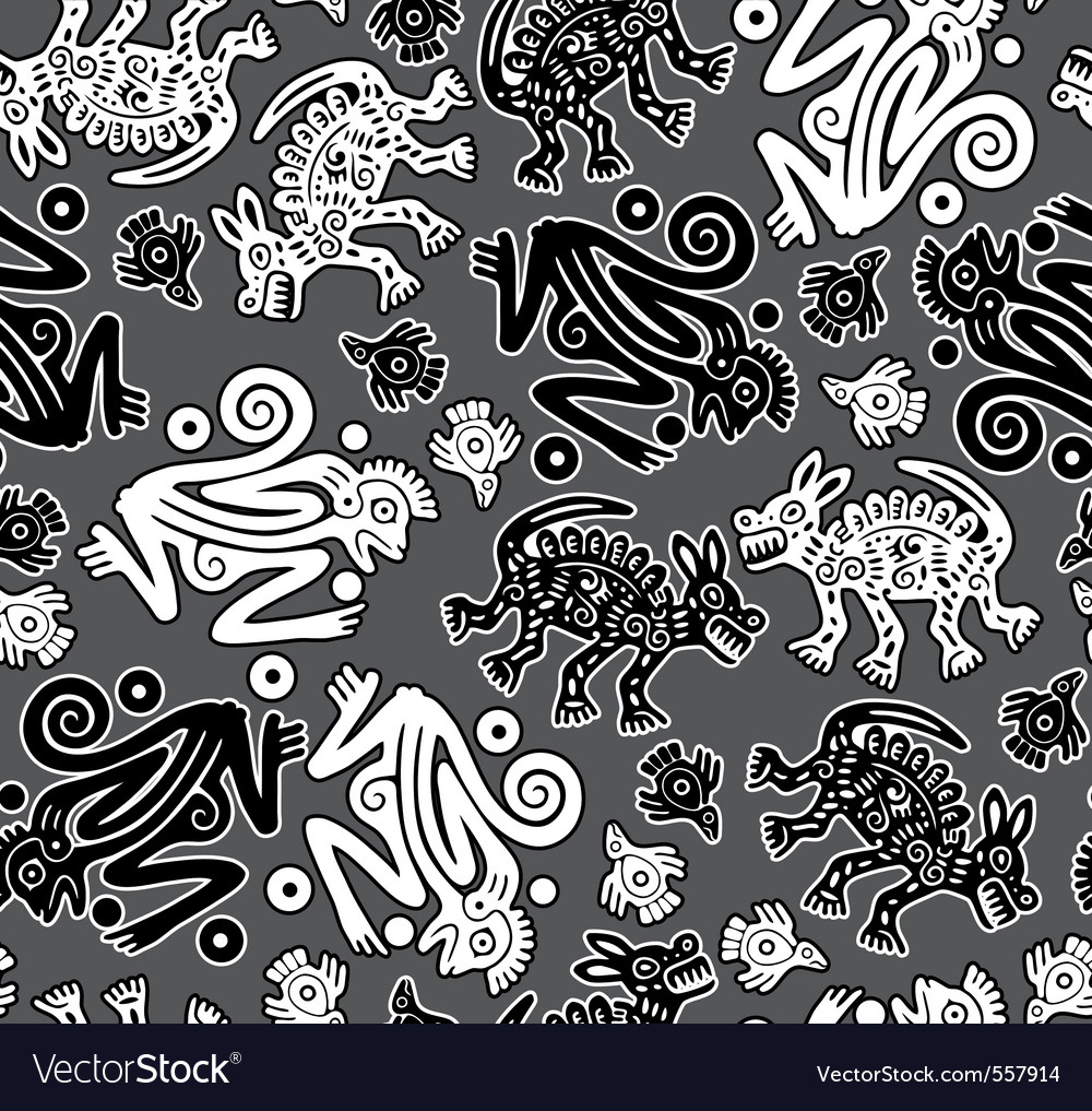 African indigenous seamless wild animal texture vector | Price: 1 Credit (USD $1)