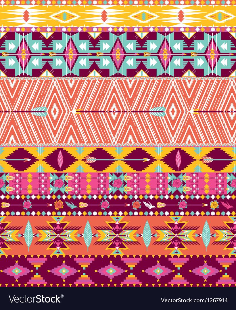 Aztec geometric seamless pattern vector | Price: 1 Credit (USD $1)