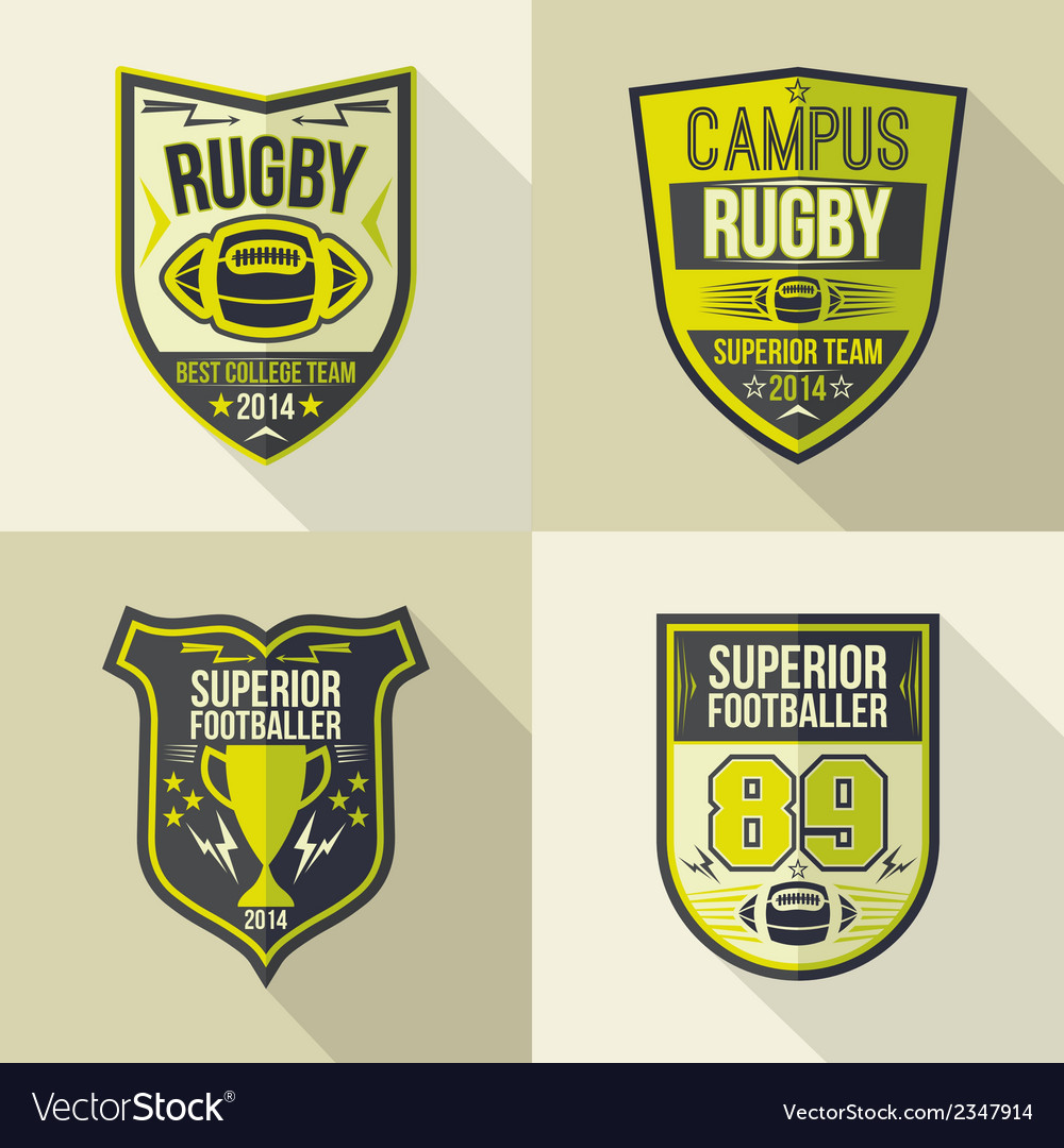 College best rugby team emblems vector | Price: 1 Credit (USD $1)