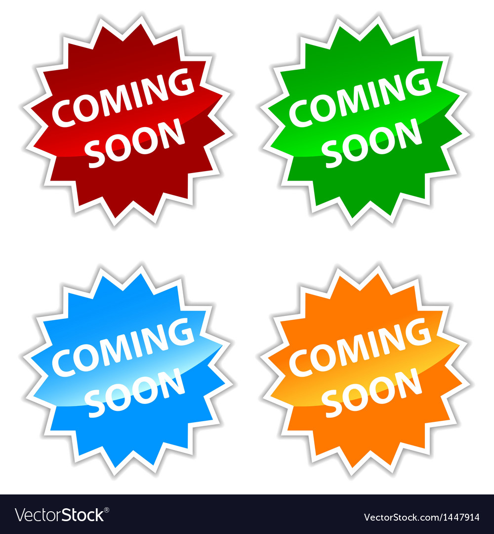 Coming soon labels set vector | Price: 1 Credit (USD $1)
