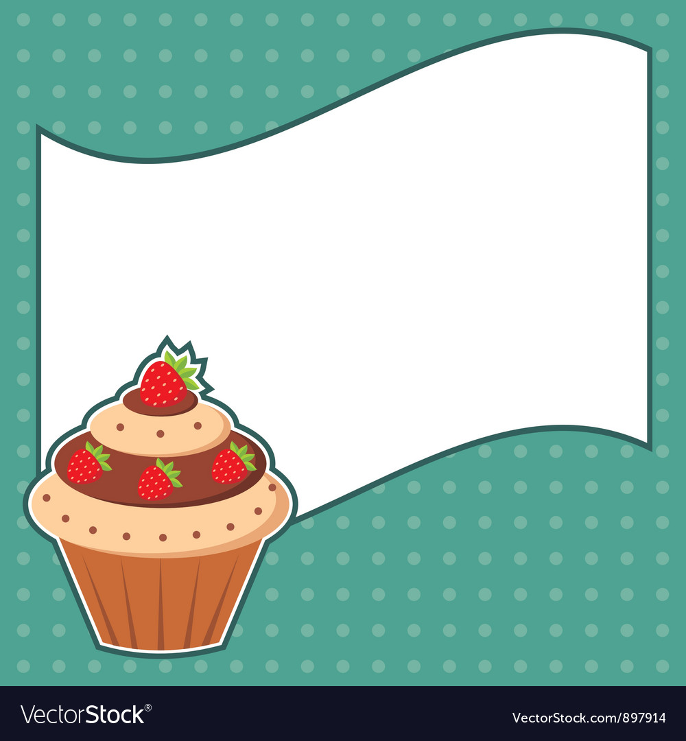 Cupcake with message cloud vector | Price: 1 Credit (USD $1)