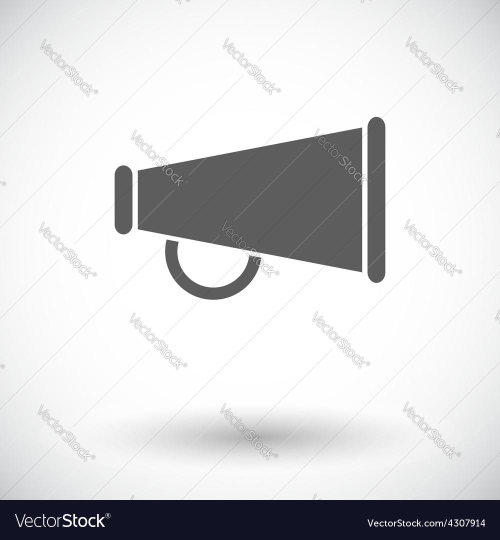 Horn single icon vector | Price: 1 Credit (USD $1)