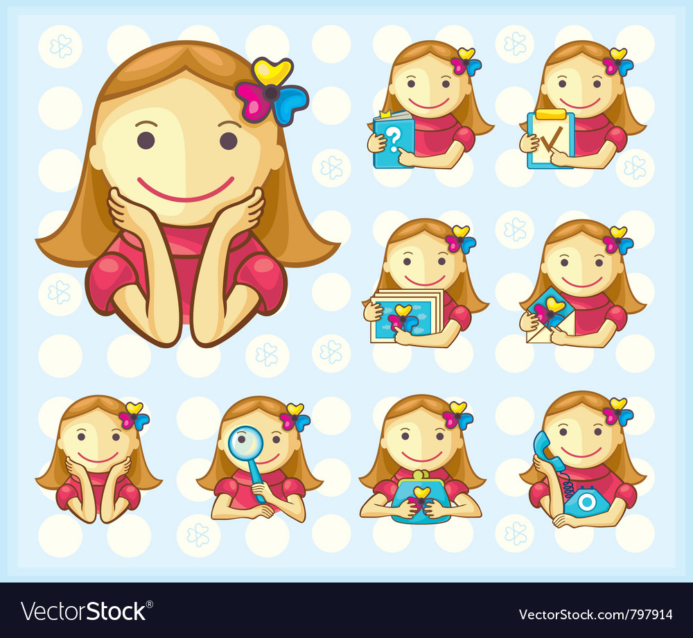 Menu icons girls only vector | Price:  Credit (USD $)