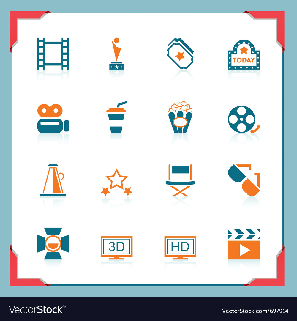 Movie icons - in a frame series vector | Price: 1 Credit (USD $1)