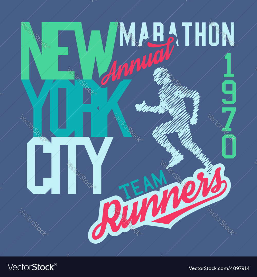 New york city marathon vector | Price: 1 Credit (USD $1)