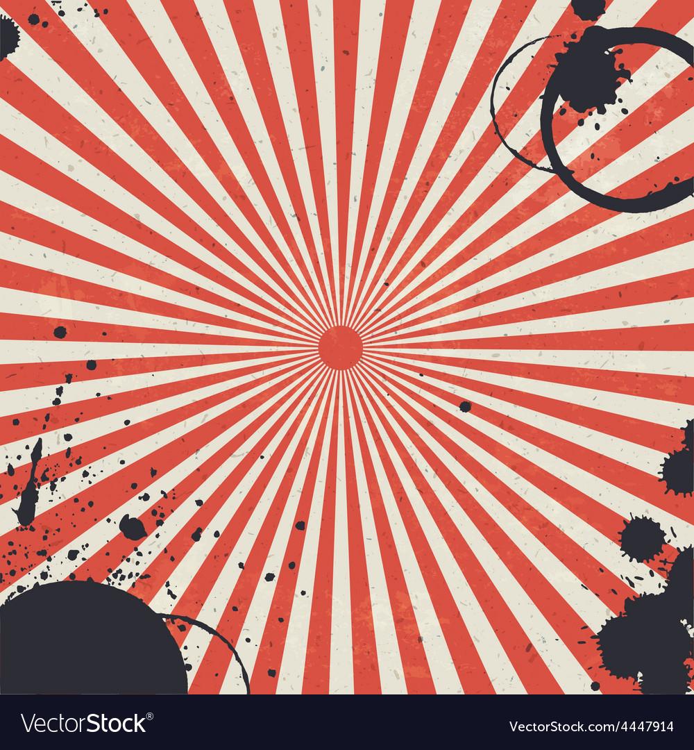 Red sunburst background vector | Price: 1 Credit (USD $1)
