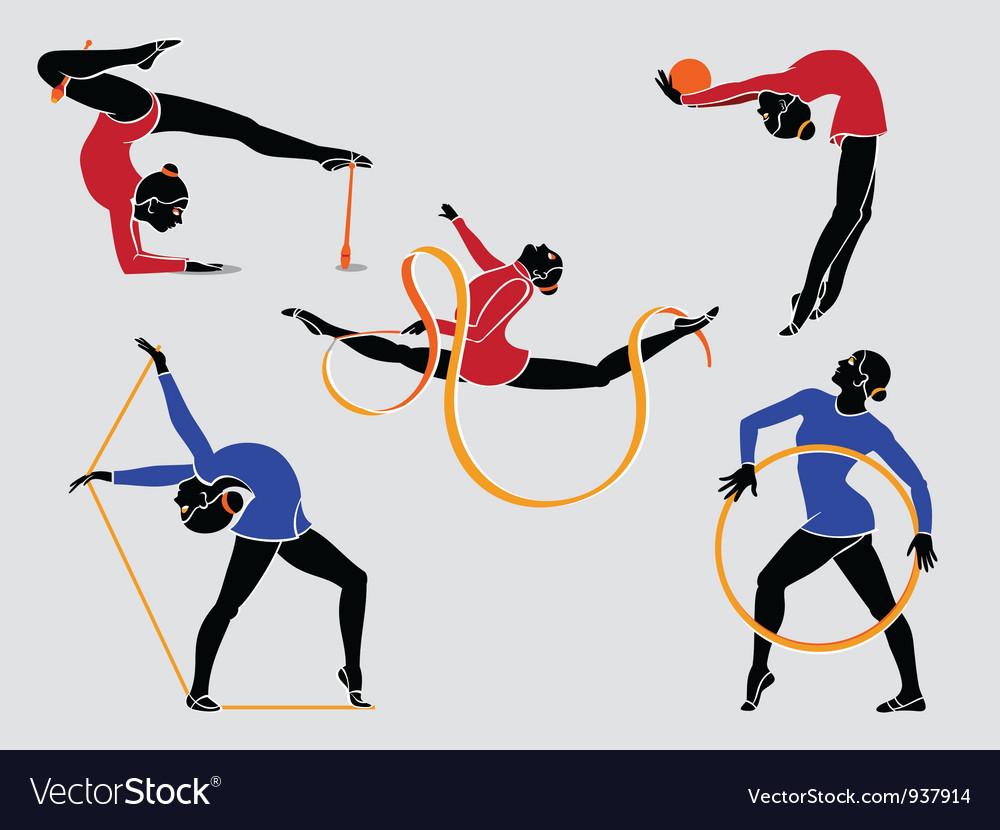 Rhythmic gymnastics vector | Price: 3 Credit (USD $3)