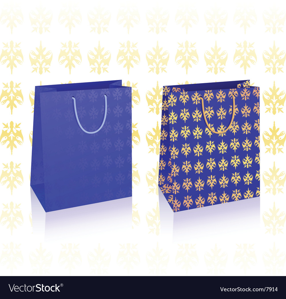 Royal blue bags vector | Price: 1 Credit (USD $1)