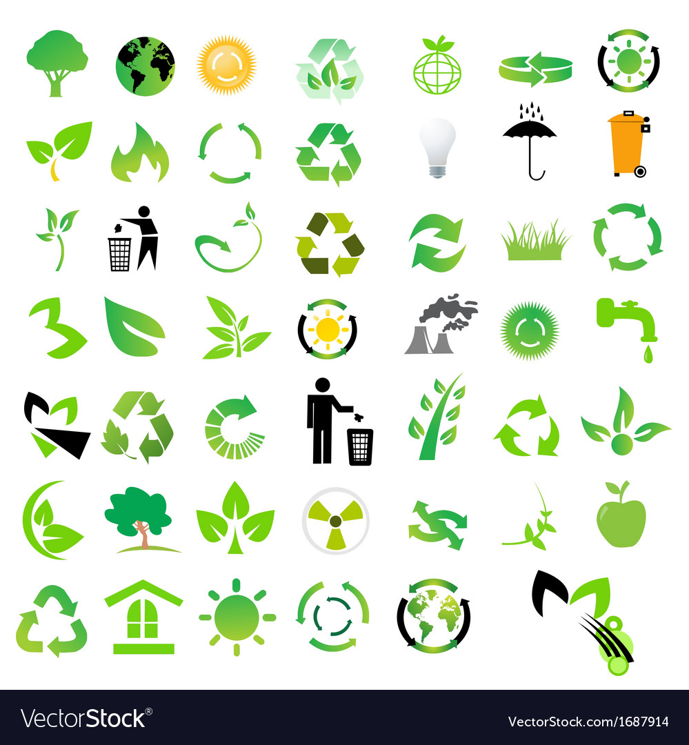 Set of environmental icons vector | Price: 1 Credit (USD $1)