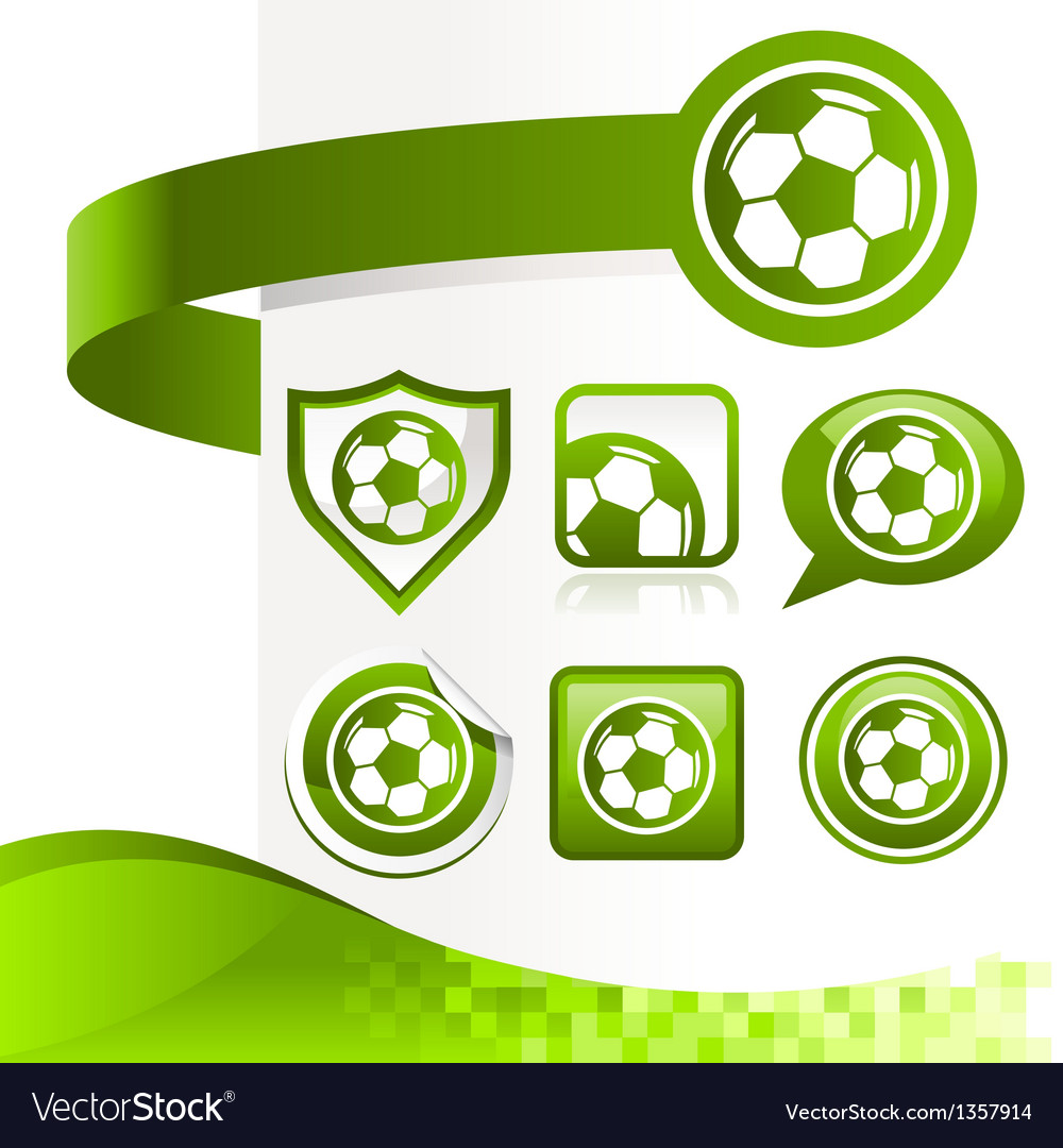 Soccer ball design kit vector | Price: 1 Credit (USD $1)