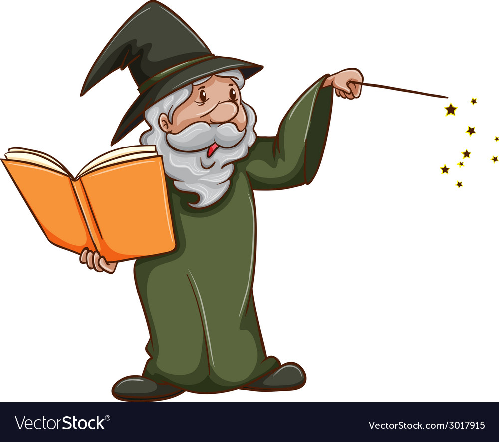A simple sketch of an old wizard vector | Price: 1 Credit (USD $1)