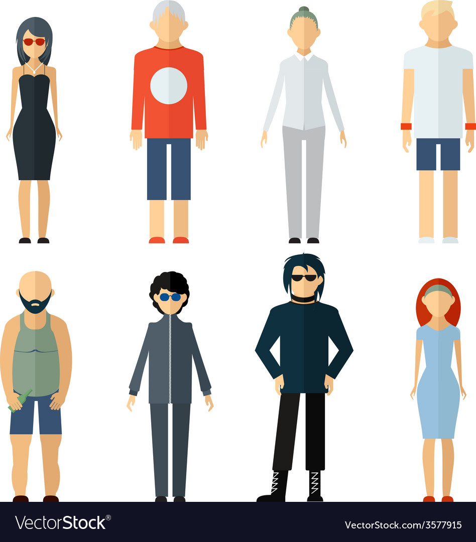 Assorted people on different lifestyle vector | Price: 1 Credit (USD $1)