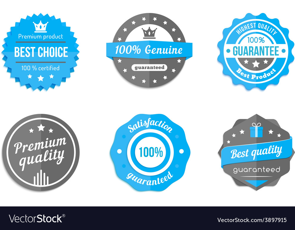 Blue badges vector | Price: 1 Credit (USD $1)