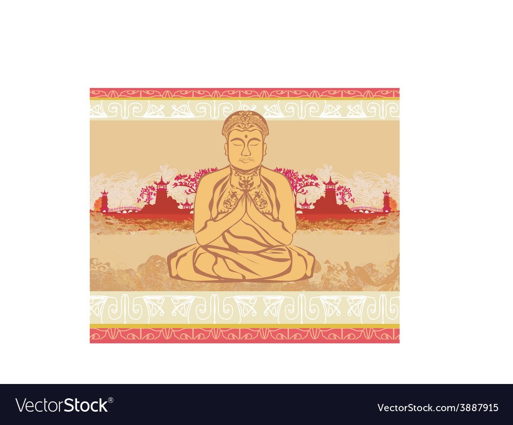 Buddha - abstract card vector | Price: 1 Credit (USD $1)