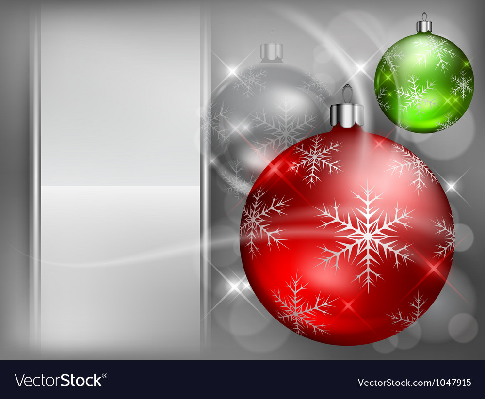 Christmas background baubles color 4 10 v vector | Price: 1 Credit (USD $1)