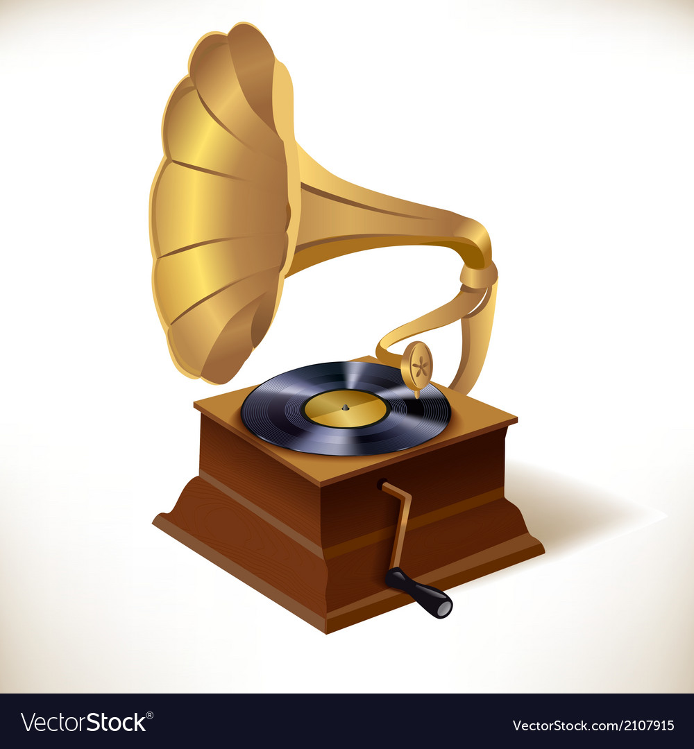 Gramophone print template vector | Price: 1 Credit (USD $1)
