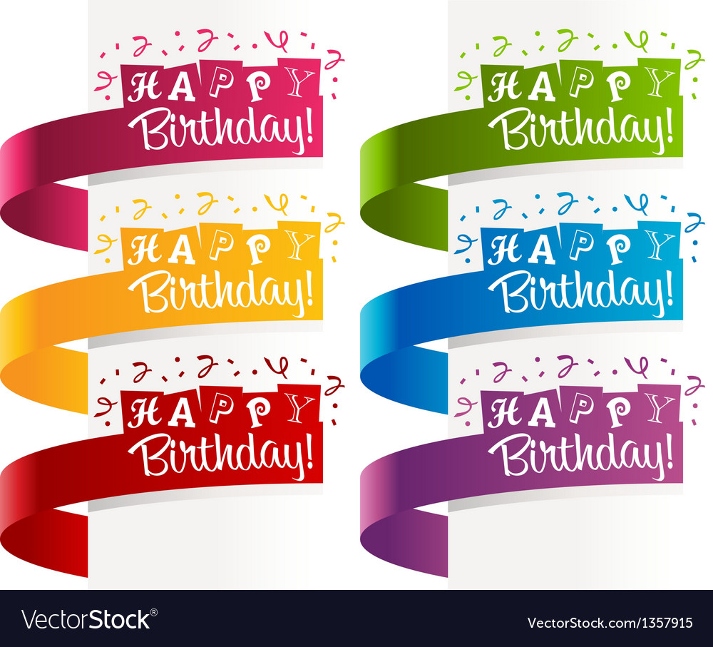 Happy birthday banners vector | Price: 1 Credit (USD $1)