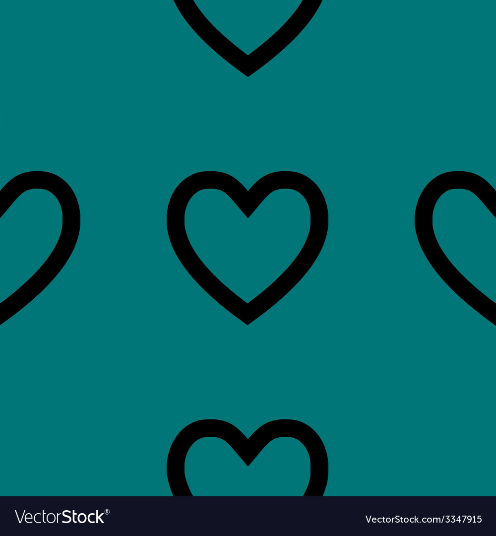 Heart web icon flat design seamless pattern vector | Price: 1 Credit (USD $1)