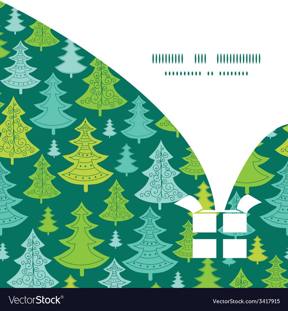 Holiday christmas trees christmas gift box vector | Price: 1 Credit (USD $1)