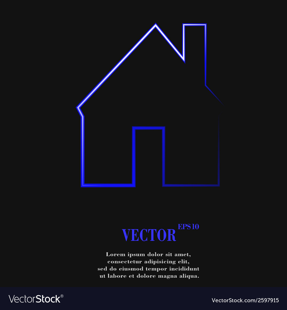 Home flat modern web button and space for your vector | Price: 1 Credit (USD $1)