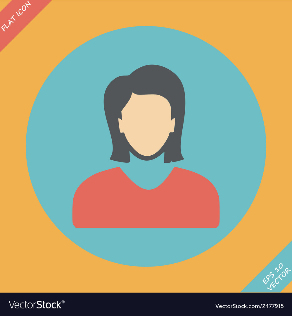 Icon of woman - vector | Price: 1 Credit (USD $1)
