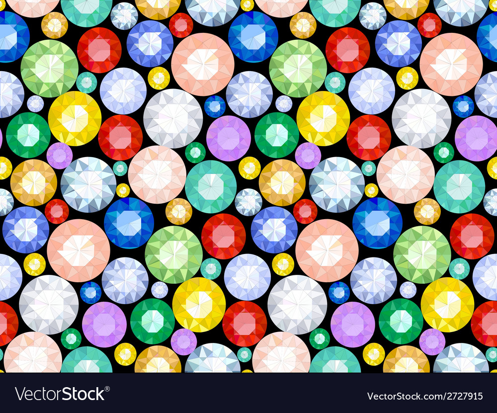 Pattern of precious stones vector | Price: 1 Credit (USD $1)
