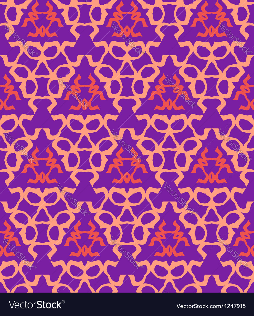 Psychedelic abstract colorful violet red cream vector | Price: 1 Credit (USD $1)